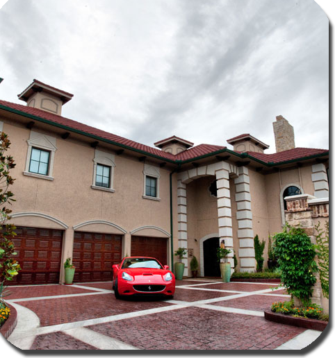 home exterior — garage and entrance