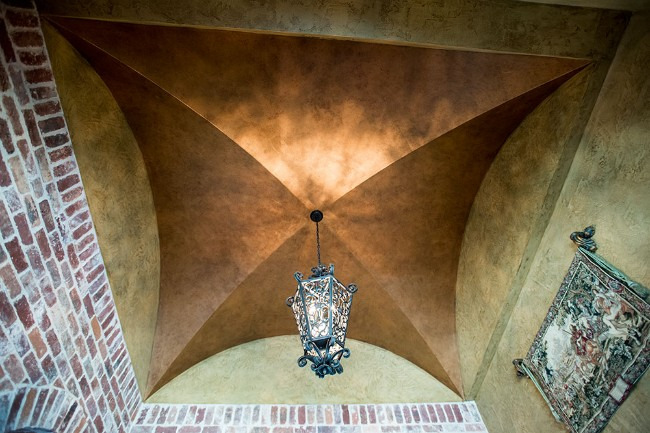 vaulted copper ceiling